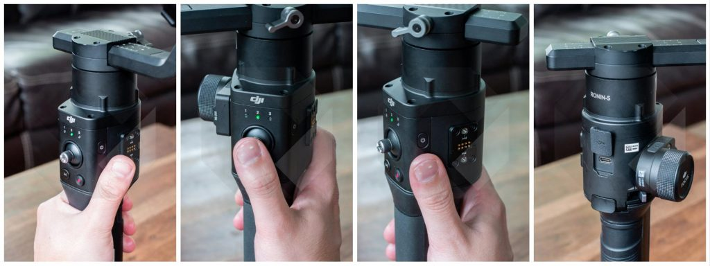 dji ronin s hands on joystick control